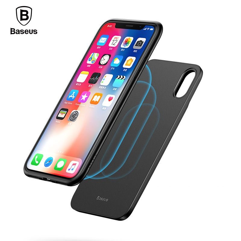Baseus Newest Wireless Charger Power Bank Case For iPhone X Wireless Charging Battery Charger Case For iPhone X + Phone Case