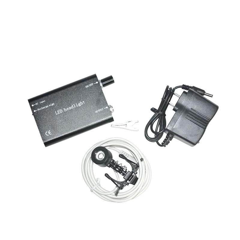 Nouvelle Arrivée Vente Chaude Portable Noir Head Light Lampe pour Chirurgie Dentaire Médical Loupe Binoculaire