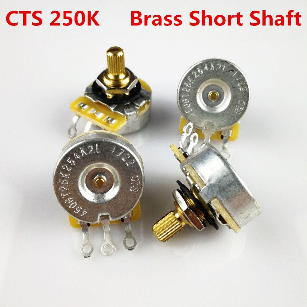 1 Piece CTS 250K Brass Short Bushing Split Shaft Big Audio Potentiometer(POT) For Electric Guitar/Bass