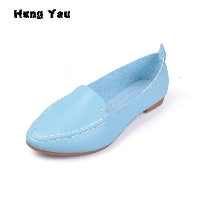 Women Flats 2017 New Summer Style Casual Solid Pointed Toe Slip-On Flat Shoes Soft Comfortable Women Shoes Plus Size 35-40