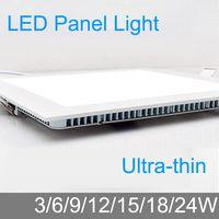Panel cuadrado de grosor 3W/6W/9W/12W/15W/18W/24W con luces LED para iluminación de habitaciones. Envío gratuito