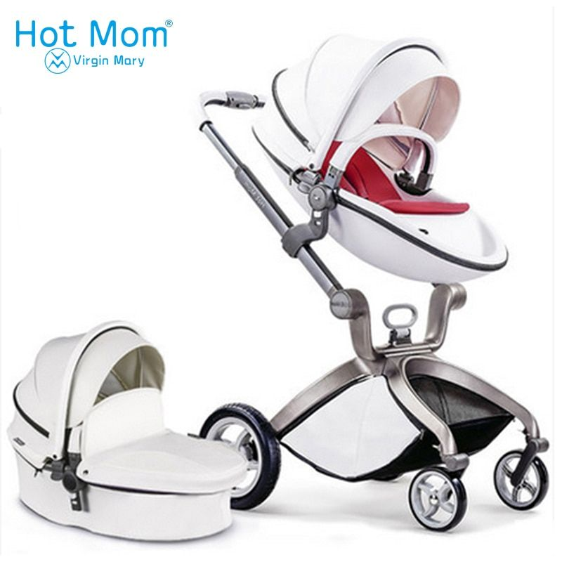 Hotmom baby stroller 3 in 1 2 in 1 baby stroller pu leather can sit and lie four seasons winter Russia free shipping