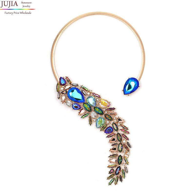 JUJIA 2019 nouveau 7 couleurs mode collier collier Colliers et Pendentifs bib foulard maxi déclaration collier pour les femmes