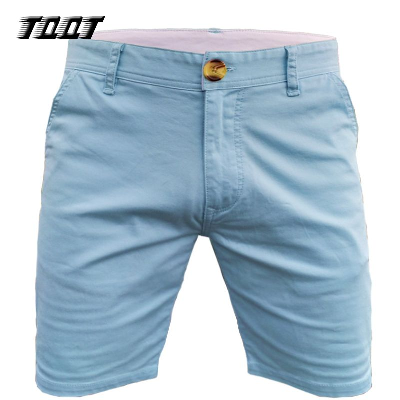 TQQT Summer Shorts Homens Short Elastic Waist Straight Short Jeans Simple Design Joggers Cotton Material Men'S Shorts 7P0118