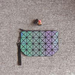 Geometris tas bao kosmetik makeup organizer untuk wanita noctilucent