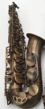 Nach Selmer MARK VI Altsaxophon E Flache Antike Kupfer Simulation mit Fall Zubehör Alto Sax Messing Instrumente