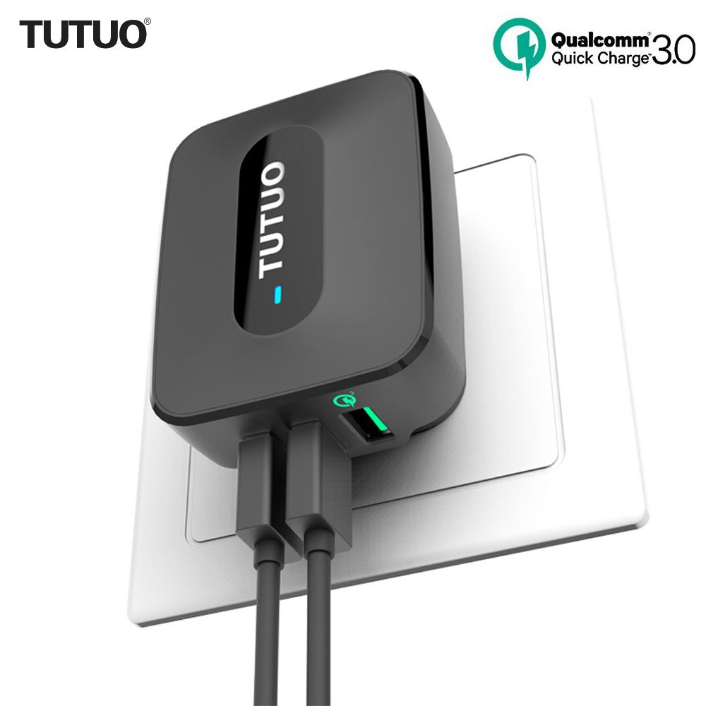TUTUO Quick Charge 3.0 QC-028P 25W 3-Port EU/US Plug Fast USB Wall Charger Adapter for Galaxy S7/S6/Edge/Xiaomi Redmi/iPhone 7
