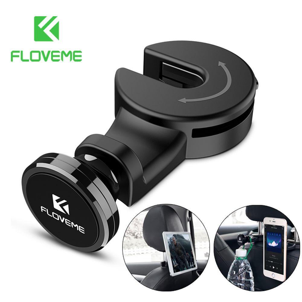 FLOVEME Universal Tablet Kfz-halter Für iPad iPhone Magnetische Rücksitz Halter Ständer Tablet Zubehör in Auto Unterstützung Taschenhaken