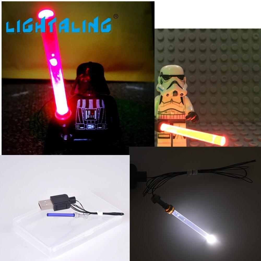 Lightaling со светодиодной подсветкой световой меч для Star Wars Фигурки Дарт Вейдер Совместимость с известным брендом Конструкторы модели Игрушеч...
