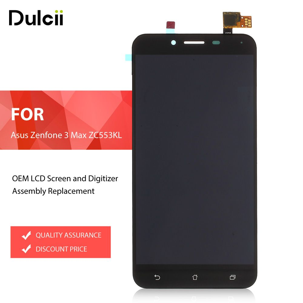 Dulcii for Asus Zenfone3 Max ZC553KL LCDs OEM LCD Screen and Digitizer Assembly for Asus Zenfone 3 Max ZC553KL Brand New