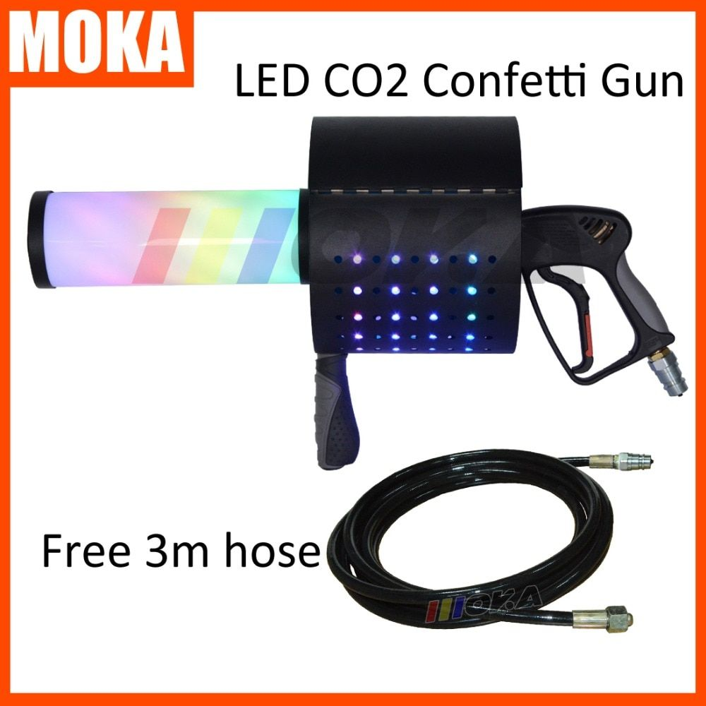 LED CO2 Konfetti pistole LED CO2 Jet Maschine LED CO2 Kryo Konfetti Shooter Kanone DJ Wirkung Ausrüstung Bühne Wirkung Maschine