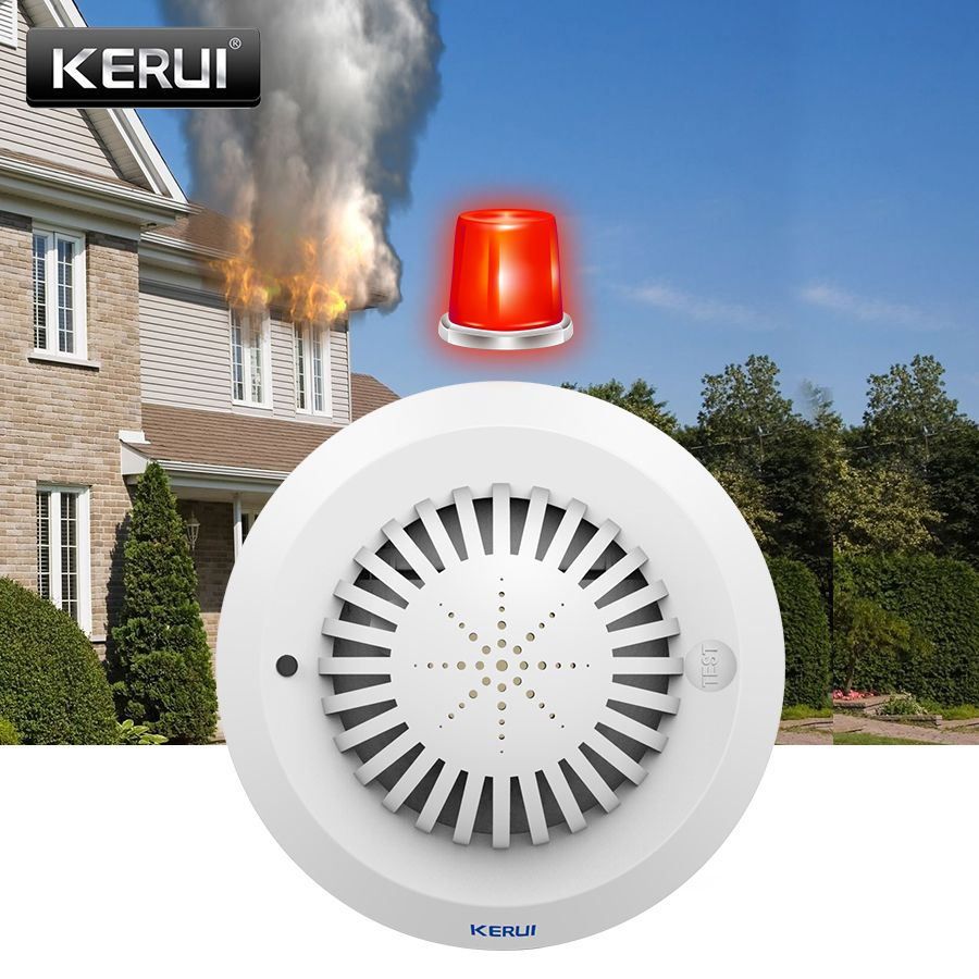 KERUI SD03 High Sensitivity <font><b>Voice</b></font> Prompts Smoke Fire Detector/Sensor Low Battery Remind linkage With Kerui Home Alarm System