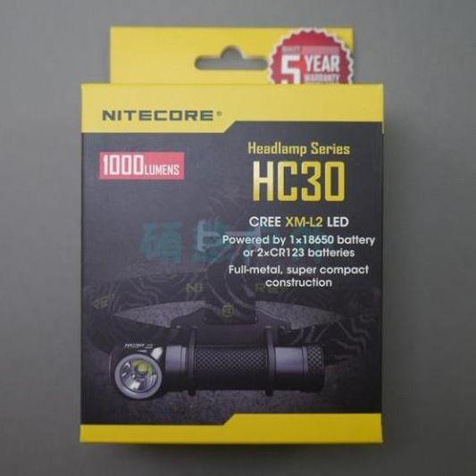 2015 New Nitecore HC30 Headlamp CREE XM-L2 U2 1000 Lumen Headlight Waterproof Flashlight Torch For Camping Travel Freeshiping