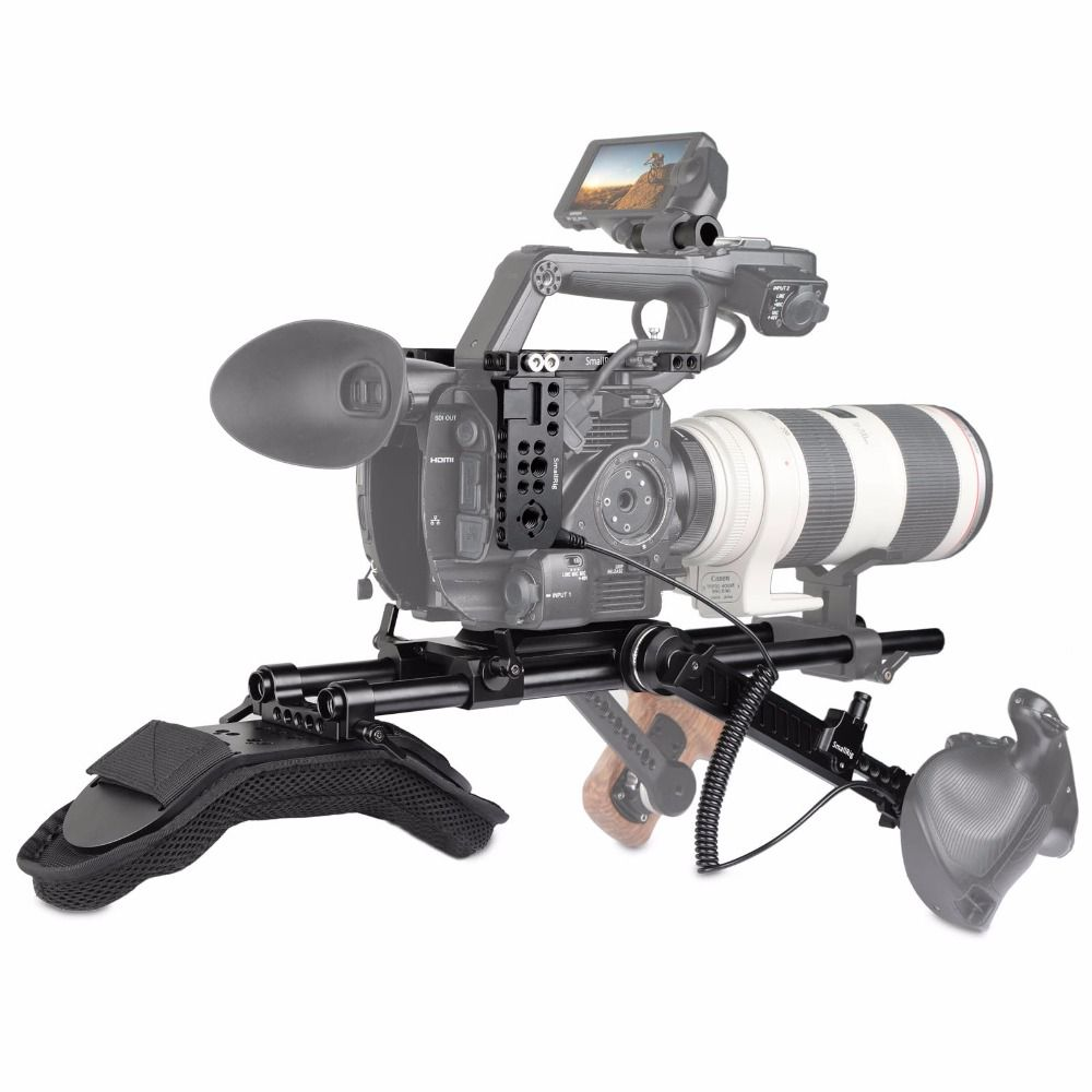 SmallRig fs5 Camcorder Professional Accessory Kit for Sony PXW-FS5 with Shoulder support System 15mm LWS Extension Arm 2007