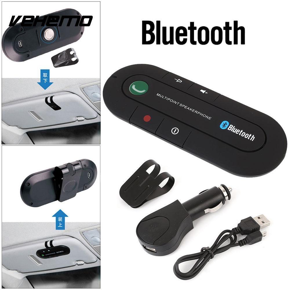 Vehemo Wireless Speakerphone with Microphone Speakerphone Hands-Free Car Speaker Universal