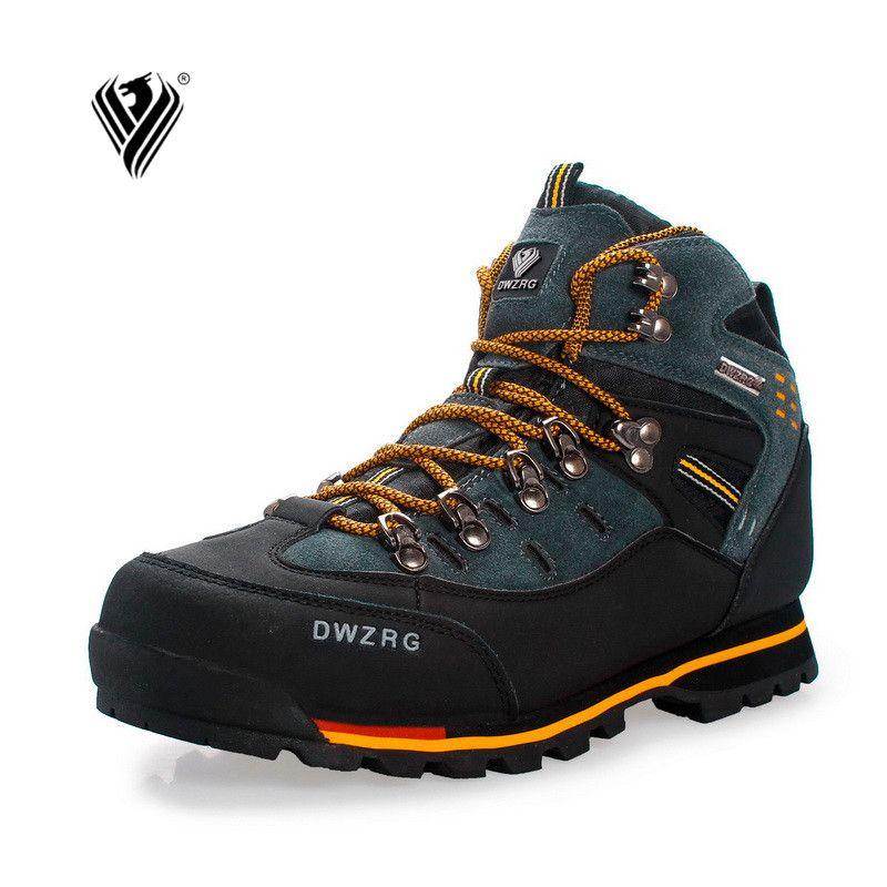 Hommes Chaussures De Randonnée Imperméable en cuir Chaussures D'escalade & Chaussures De Pêche Nouveau populaire En Plein Air chaussures