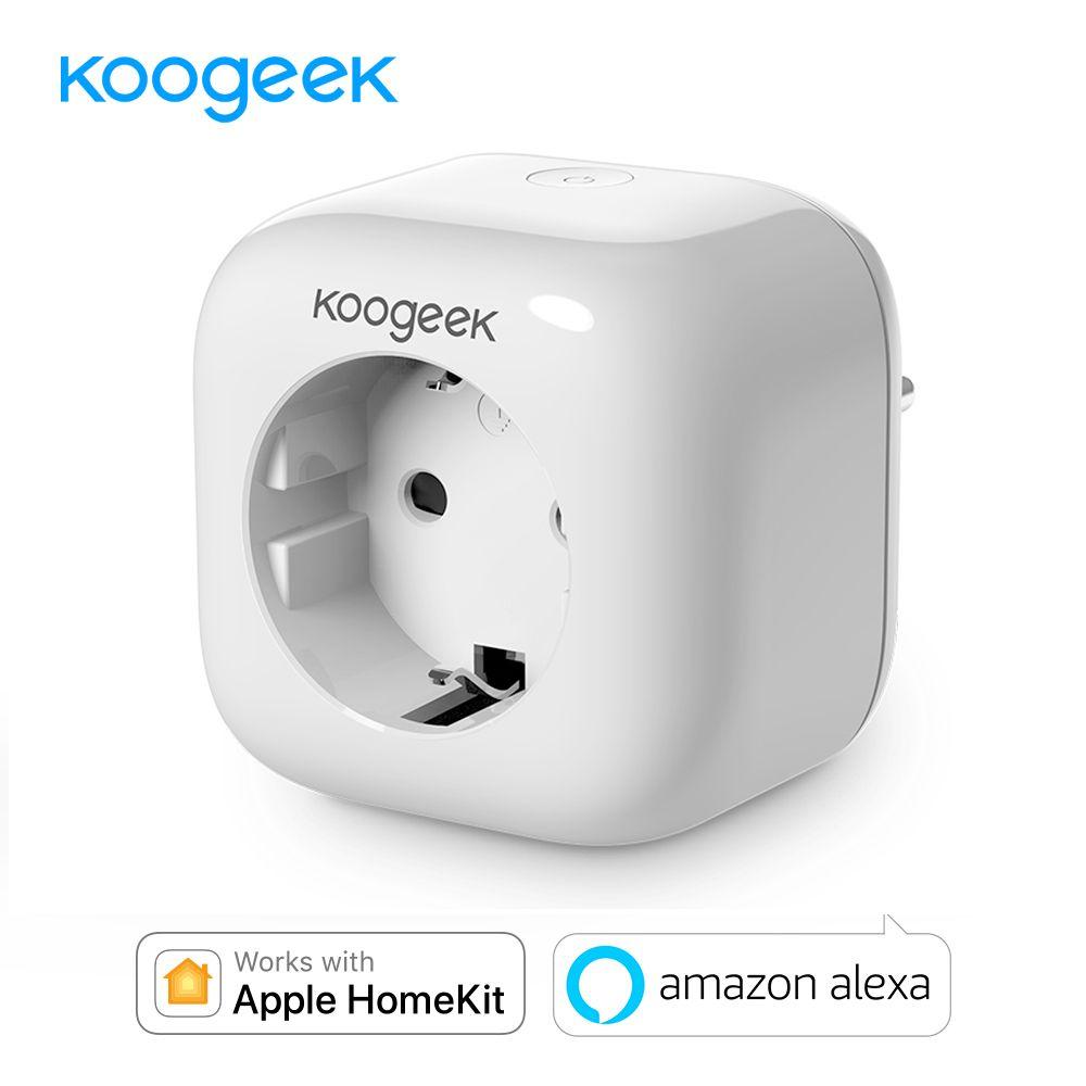 Koogeek WIFI Smart Socket Plug for Apple HomeKit Alexa Google Assistant APP Control Monitor Energy Consumption Home Smart Outlet