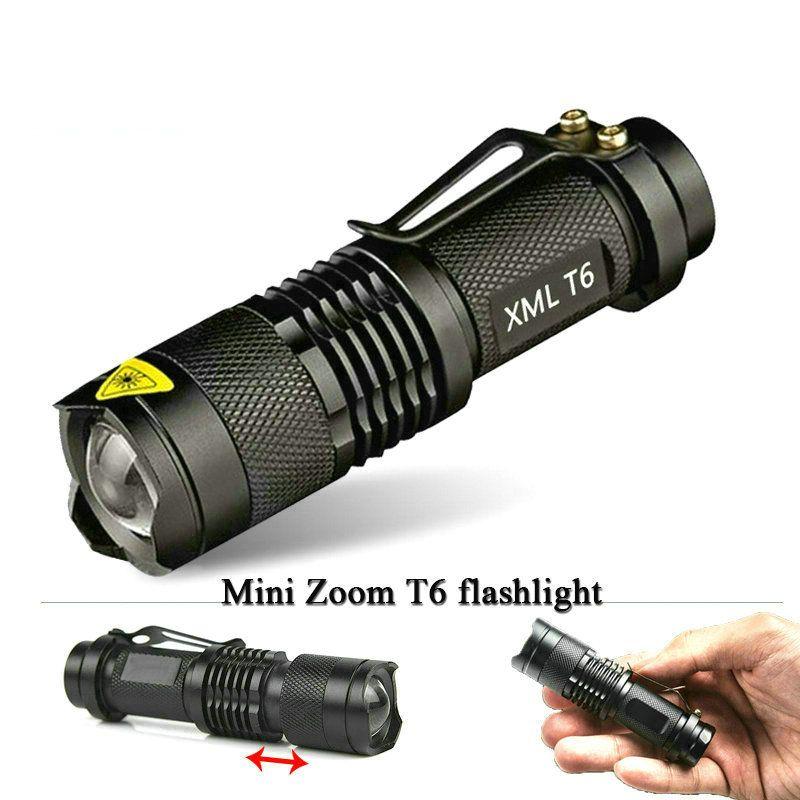 Mini cree xm-l t6 lampe de poche puissant Zoomables étanche led torche rechargeable 18650 lanterna camping flash light 3000 lumen