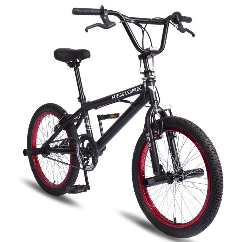 BMX 20 zoll BMX bike stahl rahmen Leistung Bike lila/rot reifen bike für zeigen Stunt Akrobatische Bike hinten phantasie straße fahrrad