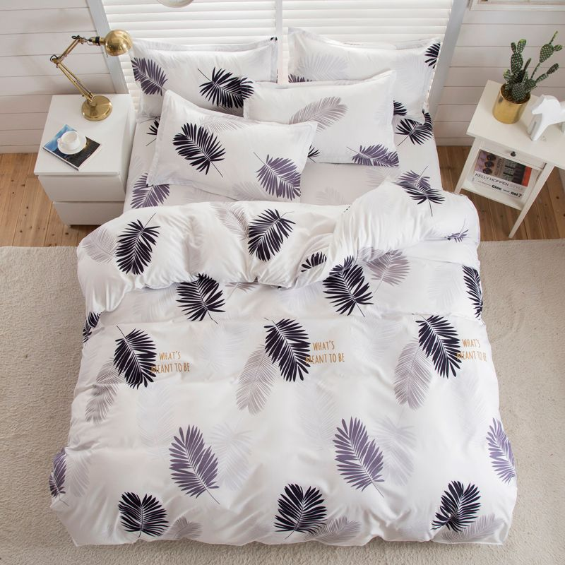 Valanorean Home Bedding Sets Light feather Soft duvet Cover Bed Set pillowcase King size Queen double Full 4pcs Twin 3pcs