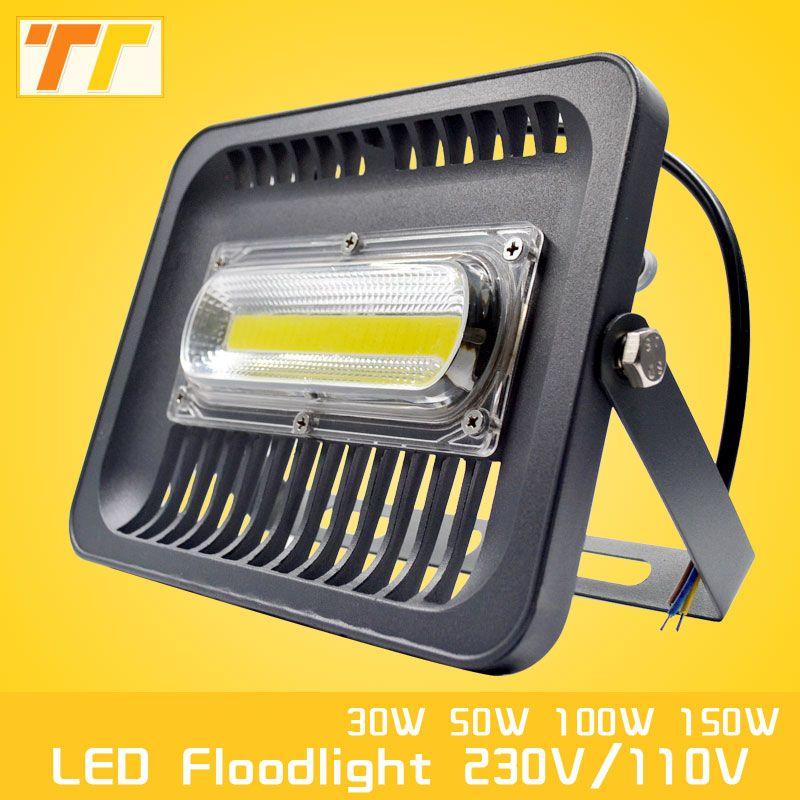 LED Flood Light 100W 50W 30W Floodlight IP65 Waterproof AC220V 230V 110V Spotlight Refletor LEDs Outdoor Lighting Garden Lamp