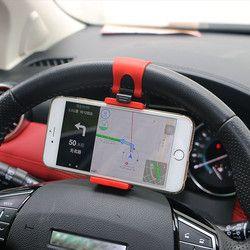 YeeSite Universel De Voiture Volant Clip Mount Holder pour iPhone 8 7 7 Plus 6 6 s Samsung Xiaomi Huawei Mobile Téléphone GPS