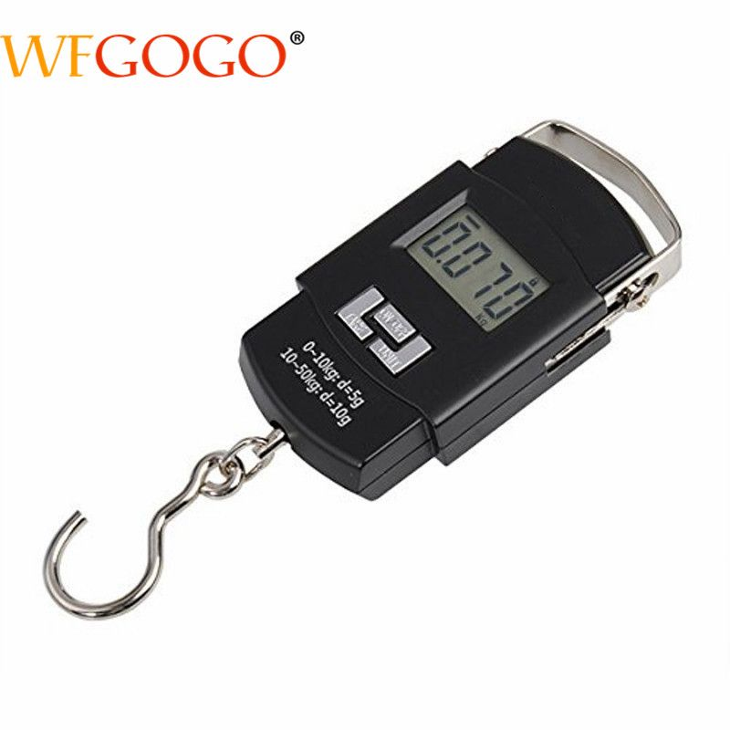 50kg/10g LCD Digital Scale Electronics Fishing Scale Baggage Scale Portable Pocket Kitchen Scales Wholesale High Quality