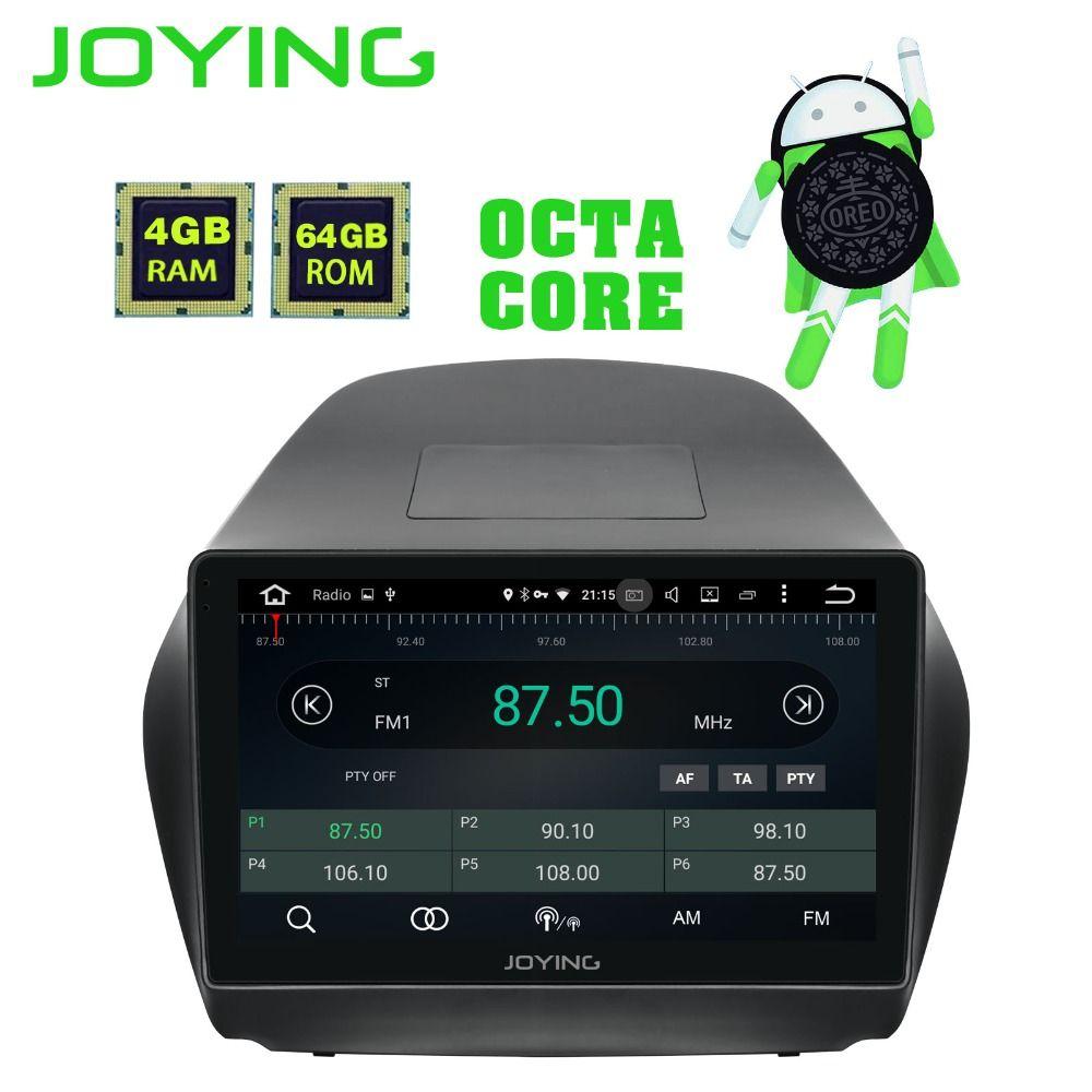 JOYING Octa Core Android 8.1 4 + 64 GB GPS Stereo DVD Radio HD Player für Hyundai TUCSON IX35 2009- 2015 mit Carplay WiFi Bluetooth