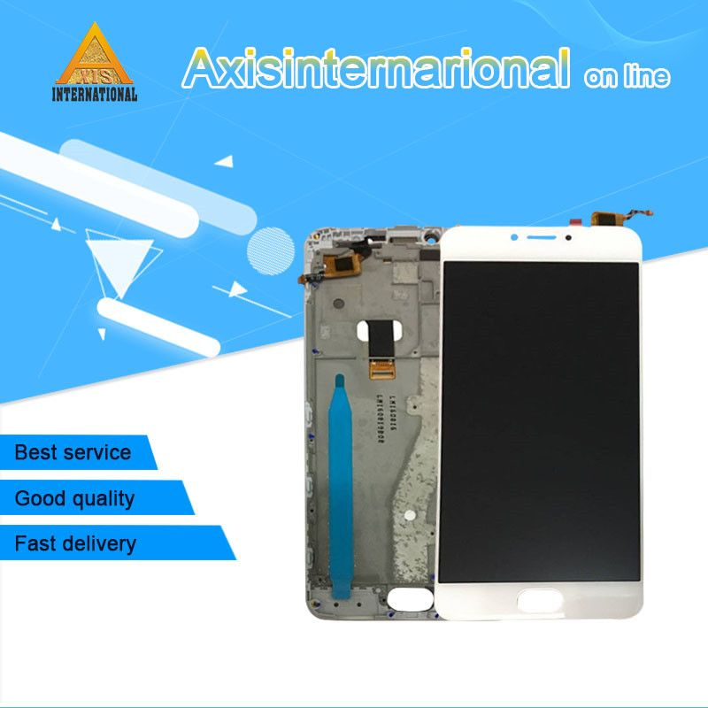 Axisinternational Tested LCD screen display+touch digitizer with frame For Meizu m3 note L681H L version for L681H display lcd