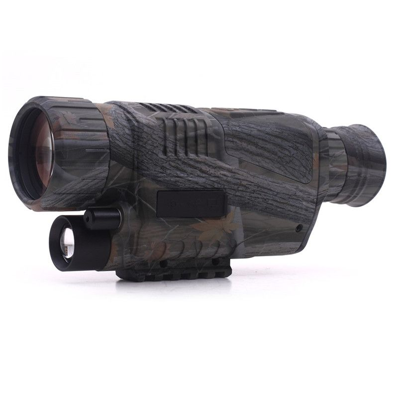 Hunting Optics Powerful Infrared Spotlight Dark Night Vision 5X40 Monocular Telescopes Scope for Outdoor Wildlife Observation