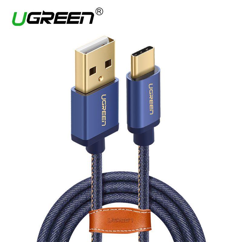 Ugreen USB Typ C Kabel Schnelle Ladekabel Typ-c USB Ladegerät kabel für Xiaomi Mi5 Nintendo Schalter Samsung S8 OnePlus 2 USB C
