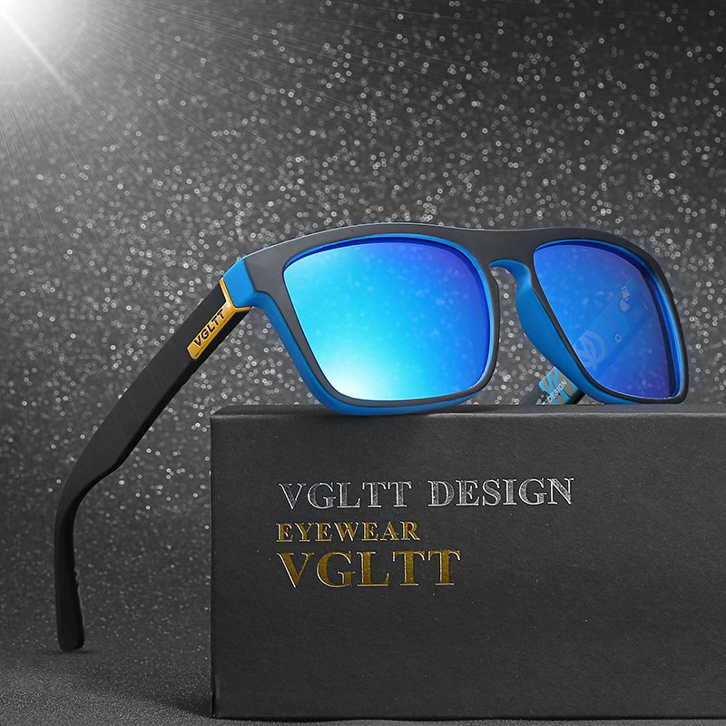 VGLTT Polarized Sunglasses For men Driving Fashion Brand Desinger Women Square Mirror Sun Glasses Male With Box Accessories