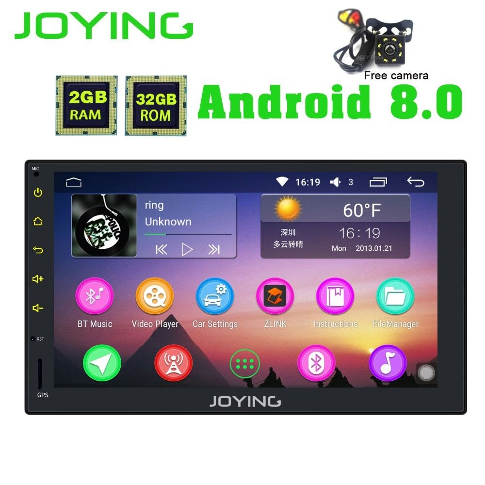 7Joying PX5 Tape Recorder Android 8.0 Universal Car Radio Audio Stereo GPS Head Unit Multimedia Player Support Carplay Wifi