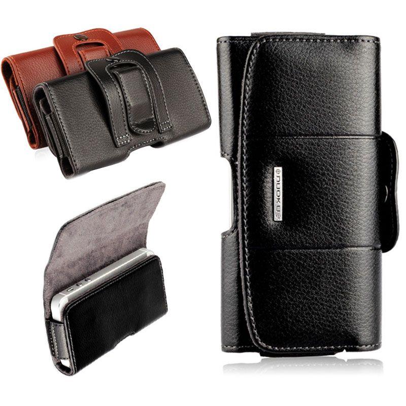 Clip ceinture Étui En Cuir Cas de Téléphone portable Poche Pour iPhone 7 6 6 S plus Couverture de Téléphone portable Sac pour iPhone 7 6 4 4S 5 5S SE couverture