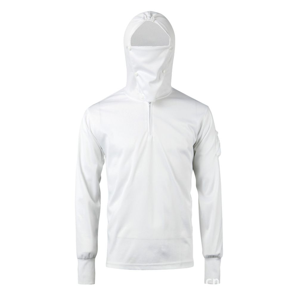 Outdoor Unisex Hoodies Camping Fishing Climbing Jacket Clothes Shirts Hat Mask Quick Dry Long Sleeve Anti-UV Sunscreen Hooded