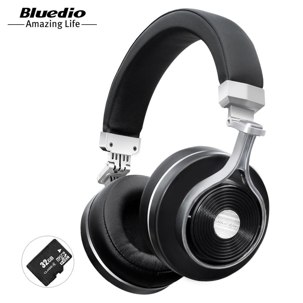 Bluedio T3 Plus wireless Bluetooth headphones with microphone SD card slot <font><b>music</b></font> original bluetooth headset phone accessory