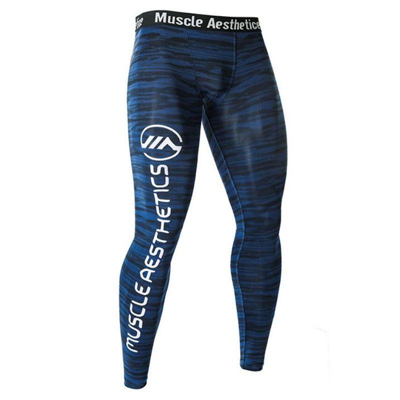 Leggings serrés à Compression pour hommes Sports de course pantalons de Jogging pour hommes