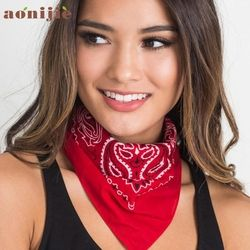 3 Colors Cute Women Print Bandana Scarf Square Head Scarf Female Motorcycle Headwear Outdoor Cool Activities Riding Collar Dec8