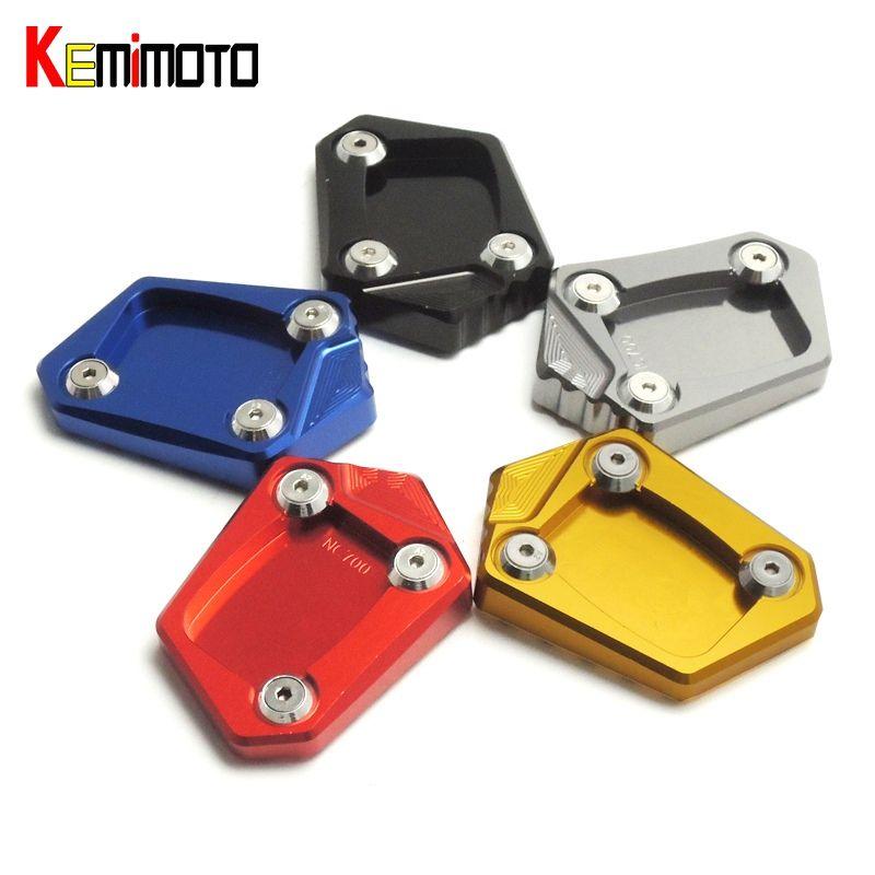 KEMiMOTO for Honda NC700X NC700S NC700D Integra CBR500R CB500F CB500X CNC Kickstand Side Stand Plate Pad Enlarge Extension