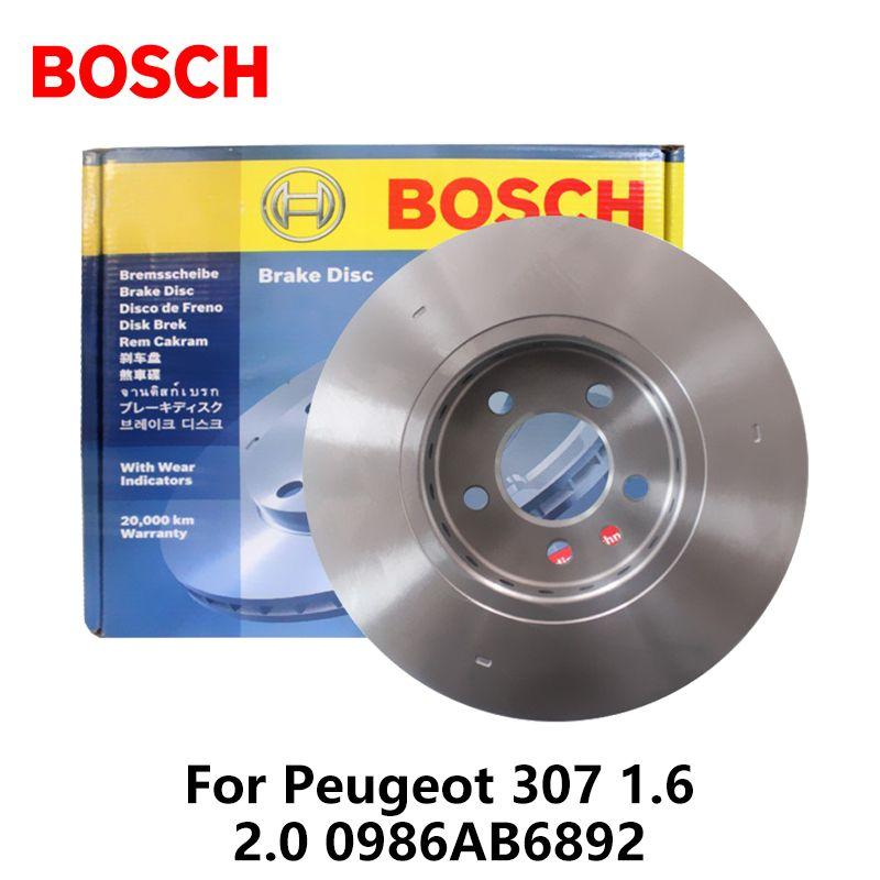 2pieces/set BOSCH Car Rear Brake Disc For Peugeot 307 1.6 2.0 0986AB6892