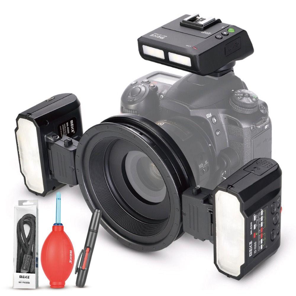Meike MK-MT24 Macro Double Lite Flash pour les REFLEX Numériques Nikon D1X D2 D80 D90 D610 D3100 D3200 D3300 D3400 D5000 D5100 D5300