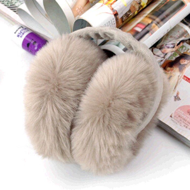 2017 new brand winter earmuffs women rabbit fur unisex ear muffs winter removed plush winter ear muff for girls TP043