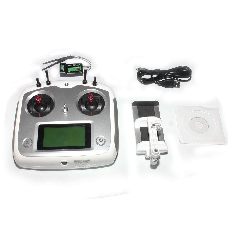 F17905/6 Flysky FS-i6S 2.4G 10CH AFHDS Touch Screen Transmitter + FS-iA6B 6CH Receiver + Mobile Holder Self Center Throttle Mode
