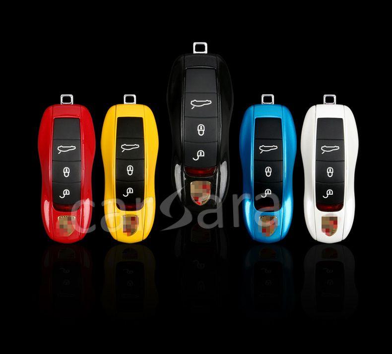 9 optional farbe auto schlüssel fall für Porsche autos mit original perle pulver ton stil Für Porsche Cayenne Macan Cayman 911