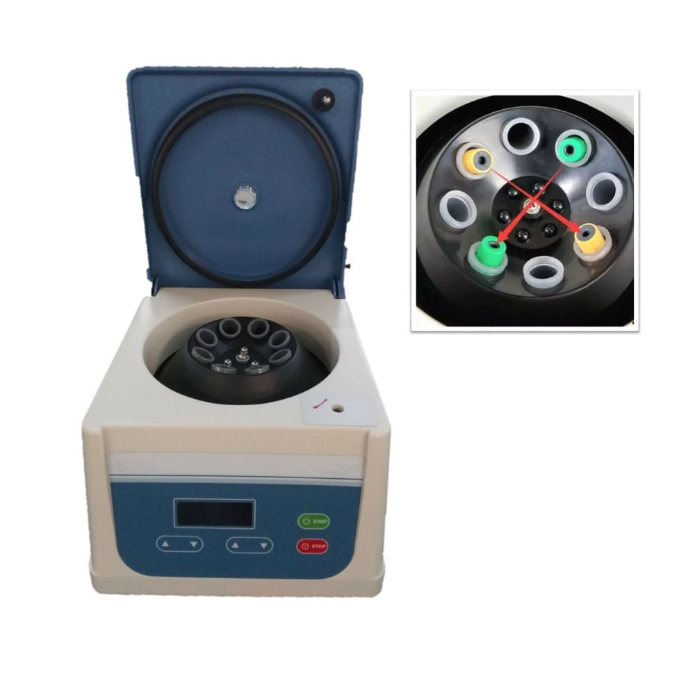 2018 PRP PRF centrifuge with angle rotor 8 tube 15ml fit for 5ml, 8ml, 10ml, 12ml, 15ml prp tube and PRP kit