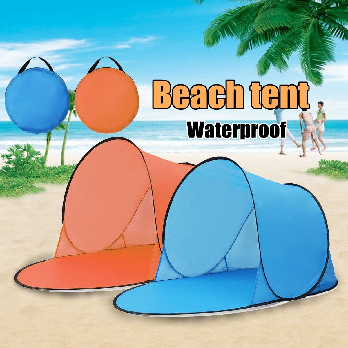 Outdoor Portable Waterproof Camping Beach Tent Pop Up Open Camping Tent Fishing <font><b>Hiking</b></font> Outdoor Automatic Instant Portable