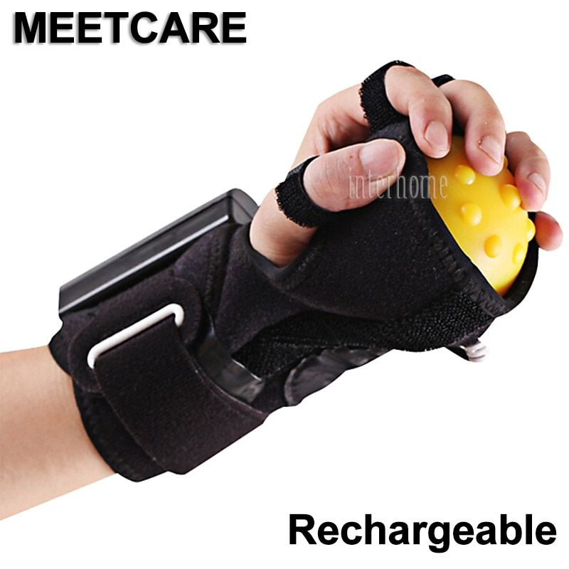 Rechargeable Infrared Hot Compress Hand Massager Ball Massage Fingers Therapy Rehabilitation Spasm Dystonia Hemiplegia Stroke