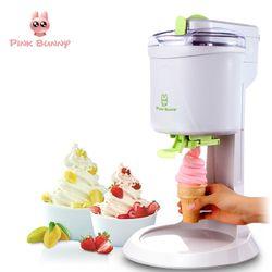 Mesin Es Krim Sepenuhnya Otomatis Mini Fruit Ice Cream Maker untuk Listrik Rumah DIY Dapur Mesin De Sorvete untuk Anak-anak
