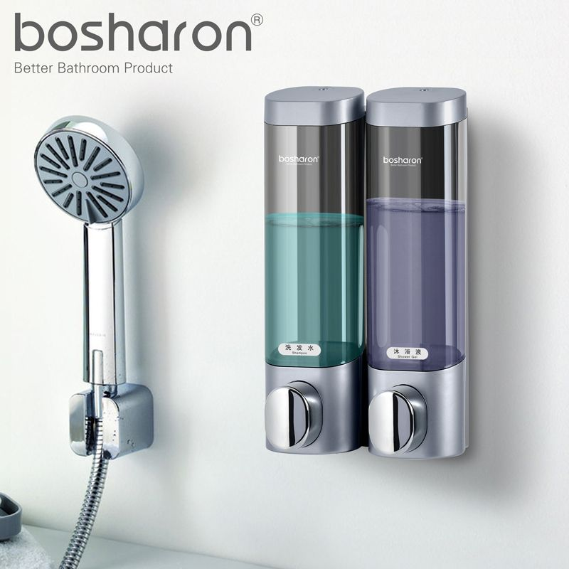 Liquid Soap Dispenser Wall Mounted 300ml Plastic Shampoo Shower Gel Dispensers Hand Sanitizer Home Kitchen Bathroom Accessories