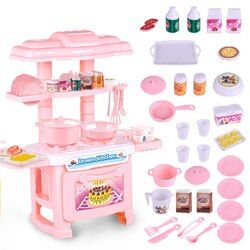 Baby Miniature Kitchen Plastic Pretend Play Food Children Kids Toys for Girls Boys Simulation Cooking Cookware Kitchen Toys Set